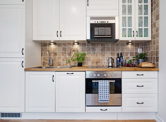 кухня фото прямая маленькая
