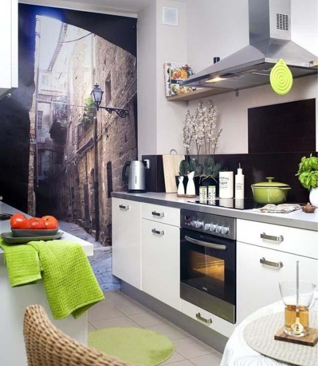 как выбрать обои для маленькой кухни