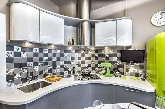 Кухни хай тек дизайн угловые